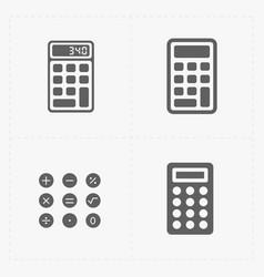 Black calculator icons set vector