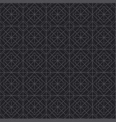black line geometry seamless pattern vector image