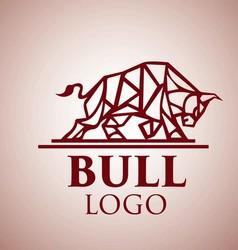 bull logo 6 vector image vector image