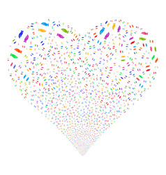 Care hands fireworks heart vector