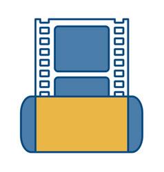 Cinema film tape icon vector