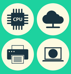 Computer icons set collection of tree web vector