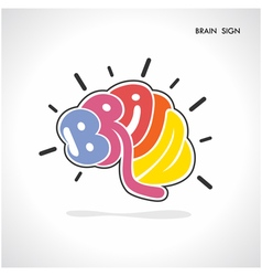 Creative brain shape abstract logo design vector