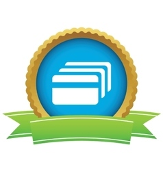 Credit card certificate icon vector