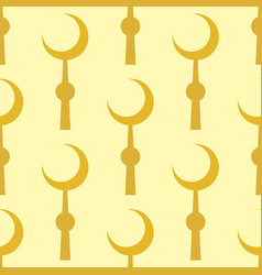 crescent muslim moon symbol star seamless pattern vector image