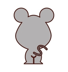 Cute mouse tender character vector