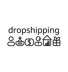 Dropshipping icons vector