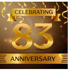 Eighty three years anniversary celebration design vector