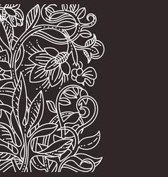 Floral design template vector