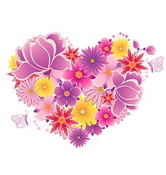 Flowering heart vector