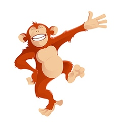 Greetig monkey vector image vector image