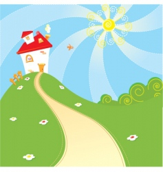 Home landscape vector