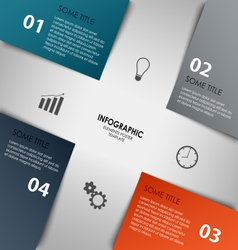 Info graphic with colorful abstract corners vector
