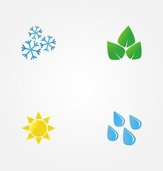 minimal of seasons vector image vector image