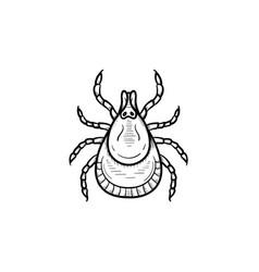 Mite hand drawn sketch icon vector