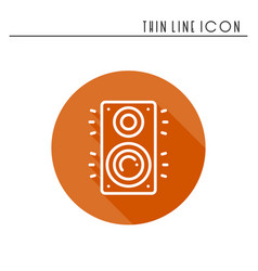 Music column audio speakers icon stereo music vector