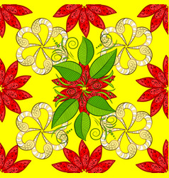 On yellow red and green colors abstract pattern vector