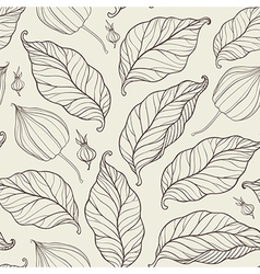 pattern with falling leaves vector image vector image