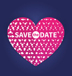Save the date card template vector
