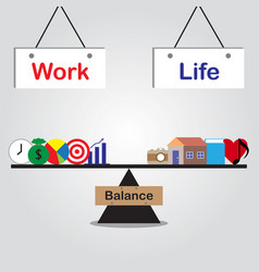 seesaw of work life balance vector image