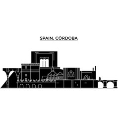 Spain cordoba architecture city skyline vector