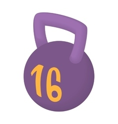 Weight 16 kg icon cartoon style vector