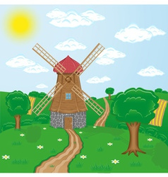 windmill 02 vector image