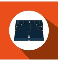 Jeans woman closet clothes vector