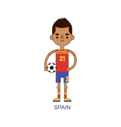 National spain soccer football player vector