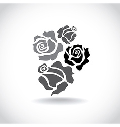 Four roses vector