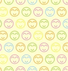 Seamless pastel Smile Symbol vector image