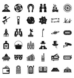 Game for man icons set simple style vector