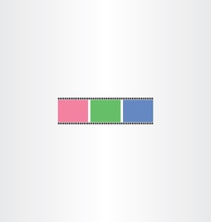 Colorful film strip icon vector