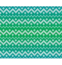 Green knitted scandinavian ornament seamless vector