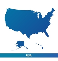 Map of usa isolated on a white background vector