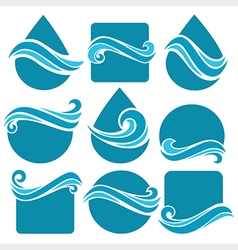 Water shapes vector