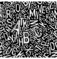 Alphabet seamless pattern vector