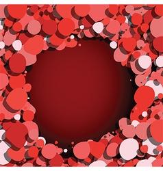 bubbles around vector image
