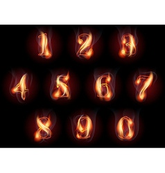 Burning numbers set vector