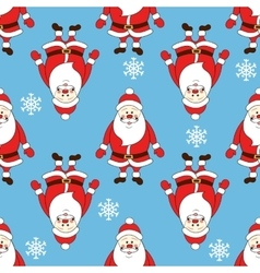 Christmas seamless pattern with cartoon santa vector