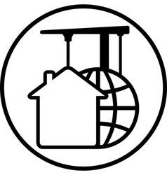 Construction development icon vector