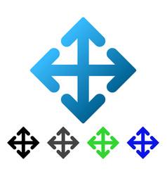 Direction variants flat gradient icon vector