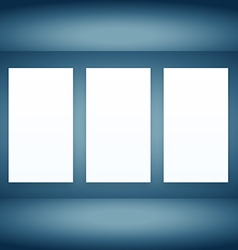 Empty room with frames vector