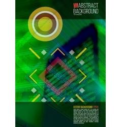 Green annual report Leaflet Brochure Flyer vector image vector image