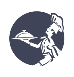 icon with chef vector image