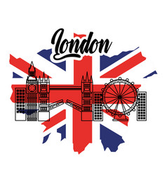 london flag england toruism travel landmark symbol vector image