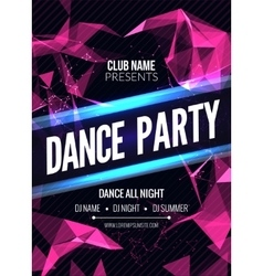 Modern Club Music Party Template Dance Party vector image vector image