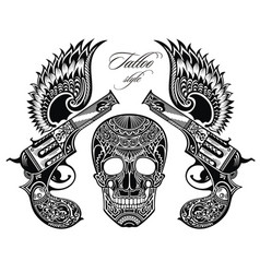 Pistols tattoo vector