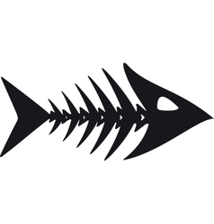 primitive fish skeleton vector image vector image