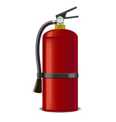 realistic detailed red extinguisher or quencher vector image